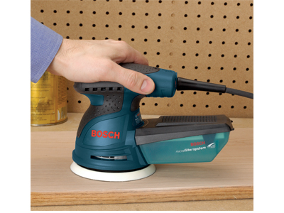 Model: 5 In. Palm-Grip Random Orbit Sander/Polisher_ROS10VSK Top Grip Backward